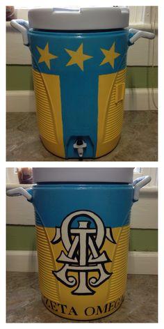 Cooler that I painted for my favorite men of Alpha Tau Omega!