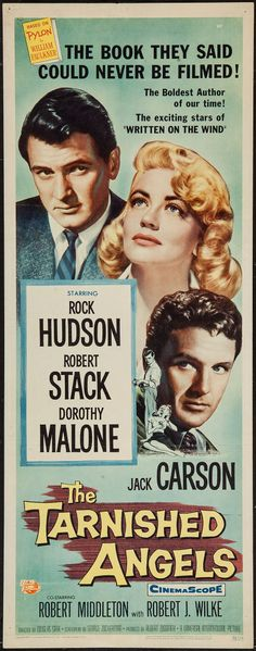 "Movie Posters:Drama, The Tarnished Angels (Universal International, 1958). Insert (14"" X36""). Drama.. ... Image #1"