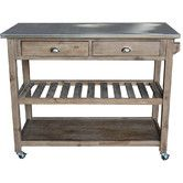 Found it at Wayfair - Sonoma Kitchen Island with Stainless Steel Top
