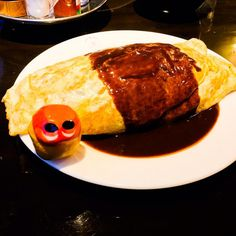 Yummm :) Omuraisu at Grill Kodakara! Taste so bright! You should try it! #mizumushikun #kyoto #exploring #yummy #omuraisu #yoshoku #meal #japan #japanesefood #foodie #dinner #gohan