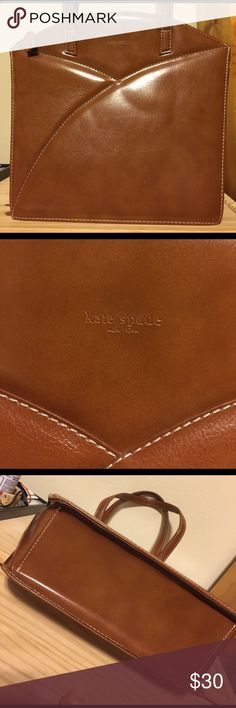 """KATE SPADE HANDBAG Vintage Kate spade, brown color, 12""""X11""""x4"""", very good condition outside but there's a stain inside as shown in the last picture kate spade Bags Satchels"""