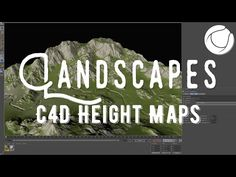 Cinema 4D - Creating Landscapes using Height Maps Tutorial