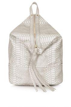 Snake Zip Front Backpack - Topshop