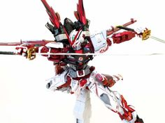 For the red parts I used three shades of red: maroon, candy tone honda red, candy tone yamaha red For the other parts I simply Astray Red Frame, Blood Orphans, Gundam Iron Blooded Orphans, Gundam Astray, Gundam Seed, Custom Gundam, Marvel Legends, Shades Of Red, Fantasy Characters