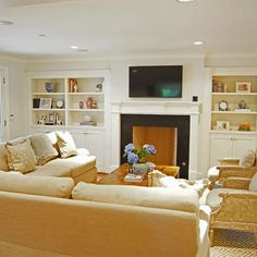 White Fireplace With Shelves Design, Pictures, Remodel, Decor and Ideas - page 7