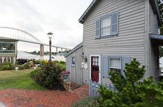 Wheeew. All that walking around for the day probably has you feeling exhausted. Get back in the car and drive to Chesapeake City and check into the Old Wharf Cottage.