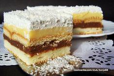 Snježna kraljica by me Cookie Desserts, Sweet Desserts, Sweet Recipes, Cake Recipes, Serbian Recipes, Czech Recipes, Macedonian Food, Cheesecake, Dessert Bars