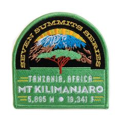 Mt. Kilimanjaro Seven Summits Series Patch. $15.00, via Etsy.