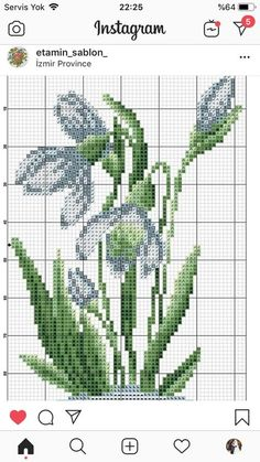 Trendy embroidery patterns cross stitch flowers crossstitch 40 ideas, You can make really special styles for fabrics with cross stitch. Cross stitch models may almost impress you. Cross stitch beginners may make the models they want without difficulty. Cross Stitch Bookmarks, Mini Cross Stitch, Cross Stitch Cards, Simple Cross Stitch, Cross Stitch Rose, Cross Stitch Flowers, Hand Embroidery Patterns Free, Embroidery Flowers Pattern, Embroidery Monogram