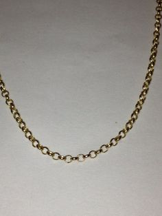 Italian Gold Necklace 14K 18 Yellow Gold 585 Box by BargainBitz, $85.00