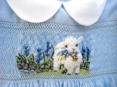 Hand Smocked Hand Embroidered Girls  Dress Size by rabbitwhiskers