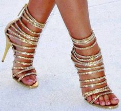 gold heels love it