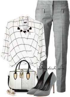 Simple Style for a Gorgeous Look : 31 Casual Work Outfit Ideas - Stylish Work Outfits, Office Outfits, Mode Outfits, Work Casual, Fashion Outfits, Office Wear, Office Attire, Outfits Casual, Casual Office
