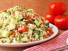 This deliciously light and healthy salad makes a great dinner for the hot summer months.  It's also an easy make-ahead lunch for the work week!