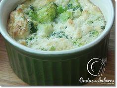 Broccoli Souffle http://www.ondasdesabores.com.br/2013/09/sufle-de-brocolis-ou-couve-flor.html