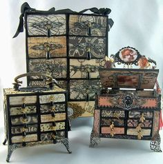 Little DIY chests made from matchboxes