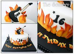 Electric Guitar Cake