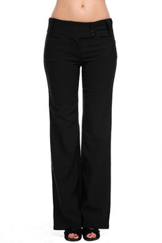 2LUV Women's Sleek And Trendy Tailored Millenium Dress Slacks at Amazon Women's Clothing store:
