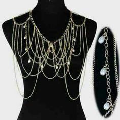 """Body Chain Size: 22"""" + 4"""" L Jewelry"""