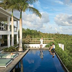 Views are, after all, the crux of the house and its secluded hilltop locale. The uninhibited ocean vistas and the distinctly Vieques sights remind Booth and Shea that they're a long way from their city lives.