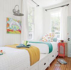 Darling Bunk Room - Little Yellow Beach Cottage Tour - Coastal Living