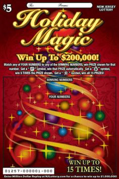 Holiday Magic: More Than $13.8 Million in Prizes. Approximately 4.2 million Holiday Magic tickets are initially planned in this game. To learn more about this game, which debuted on November 3, 2014, click on the image.