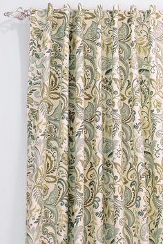 Home Decorators Collection - Custom Back Tab Curtain Panel - Findlay Blue