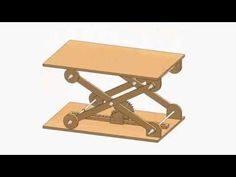 Designed And modeled in Solidworks 2014 by Ahmed Essam Lifting Platform, Adjustable Desk, Picnic Table, Drafting Desk, Woodworking Projects, Bachelor, Youtube, Decorations, Tools