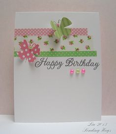 Birthday card with washi tape