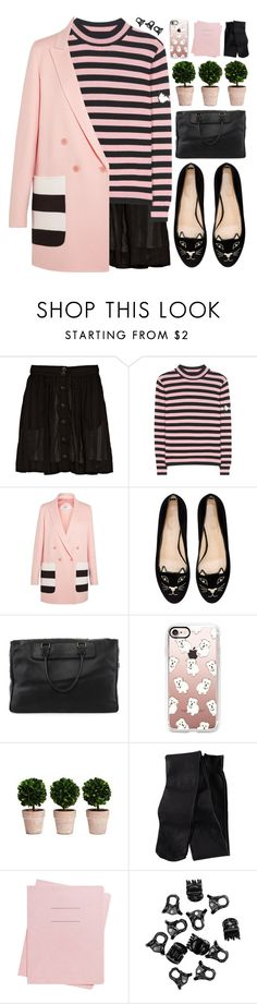 """""""Sutton"""" by bellacharlie ❤ liked on Polyvore featuring rag & bone, Shrimps, MaxMara, Charlotte Olympia, Acne Studios, Casetify, H&M and Shinola"""