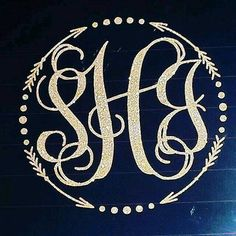 Check out this item in my Etsy shop https://www.etsy.com/listing/465742696/monogram-arrow-boho-car-decal-in-gold