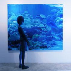 Shintaro Ohata é um japonês que criou uma maneira MUITO legal de fazer a sua arte. Ele mistura pinturas em tela com esculturas reais fazendo uma interação entre as duas artes de uma maneira… mágica.