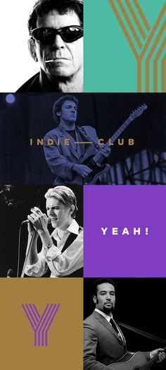 YEAH! Indie Club Identity by Quim Marin
