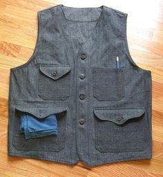 OUR SLOWBOAT DEADSTOCK CHAMBRAY WORK VEST