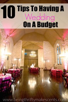 10 Tips To Have a Wedding on a Budget  Want to learn how to plan a wedding on a budget? Follow these 10 money saving tips to learn how to stay within your wedding budget.