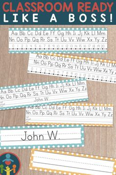 Desk Name Plates : Editable Desk Strips Primary Teaching, Primary Classroom, Classroom Decor, Teaching Kids, Teaching Resources, Elementary Teaching, Print Handwriting, Handwriting Practice, Student Name Plates