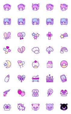 YUME KAWAII EMOJI – LINE Emoji | LINE STORE Cute Small Drawings, Cute Food Drawings, Mini Drawings, Kawaii Stickers, Cute Stickers, Bullet Journal Icons, Memo Notepad, Red Bubble Stickers, Cute Clipart