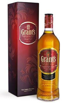Whisky Blended Grant's - Family Reserve Teor alcoólico: 40% 1.000 ml Aparência: Dourado. - Olfato: Aromas leves e suaves. Toques de cereais, caramelo, baunilha e frutas secas. - Paladar: Bastante saboroso para um Blended jovem. Frutas secas, especiarias, algas marinhas e turfa. - Fim de boca: Curto e salgado. - Conclusão: Balanceado e respeitável no paladar.