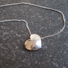 Specifications:Sterling silverHeart size 12 mm x 12 mmChain length 40 cmDescription:This cute little charm will brighten up your day. Pearl Necklace, Pendant Necklace, Heart Charm, Charmed, Jewellery, Sterling Silver, Handmade, String Of Pearls, Jewelery