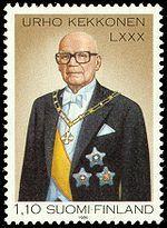 Urho Kekkonen in stamp. Finland.