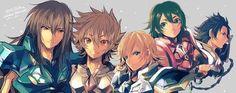 Shiryu, Seiya, Hyoga, Shun e Ikki