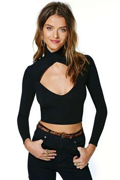Nasty Gal Soft Hold Crop Top