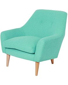 Pop colour for nursing chair Two Tone Furniture, Unique Living Room Furniture, Modern Home Furniture, Furniture Decor, Retro Armchair, Retro Sofa, Colorful Chairs, Colorful Furniture, Black Dining Room Chairs