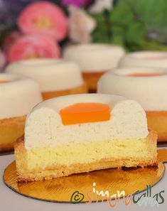 Mini Cakes, Vanilla Cake, Coco, Mousse, Food And Drink, Cooking, Desserts, Plated Desserts, Tart