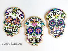 Galletas de calaverita. Preciosisimas Sugar Skull Cookies!