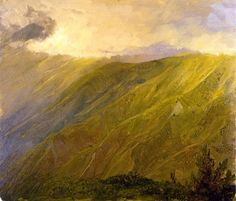 ridges in the blue mountain, jamaica - frederick edwin church