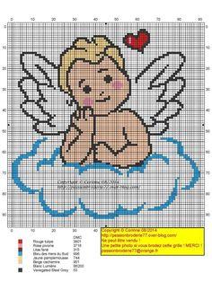 Gráficos de anjos em ponto cruz  !