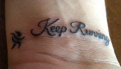 running tattoo  http://media-cache-ak0.pinimg.com/originals/e9/4b/80/e94b80a6e336edf7a103252715901e56.jpg
