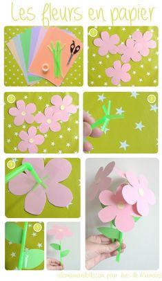 AvisdeMamans et Allo Maman Dodo vous proposent un Do It Yourself pour fabriquer de belles fleurs en papier avec les enfants ! #DIY #Kids