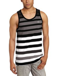 Southpole Men's Tank Top With Engineered Stripes:Amazon:Clothing